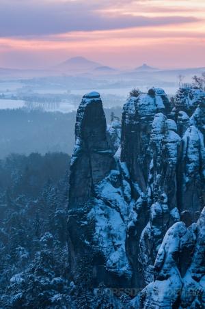 Großer Wehlturm im Winter