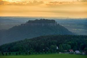 Festung Königstein am Abend