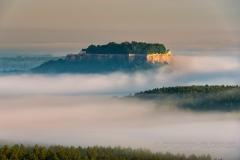 Festung Könistein im Morgenlicht