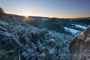 Sonnenaufgang in den Feldsteinen
