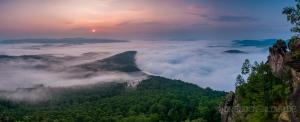 Panorama zum Sonnenaufgang