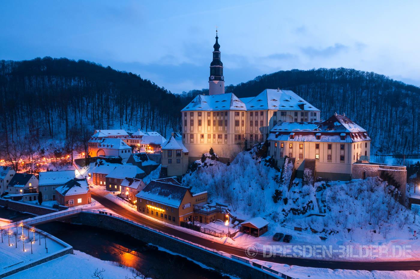 Schloss Weesenstein im Winter