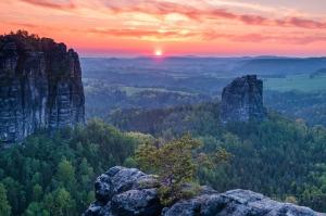 Abendsonne im Elbsandstein