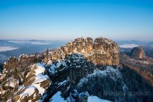 Schrammsteinkette im Winter