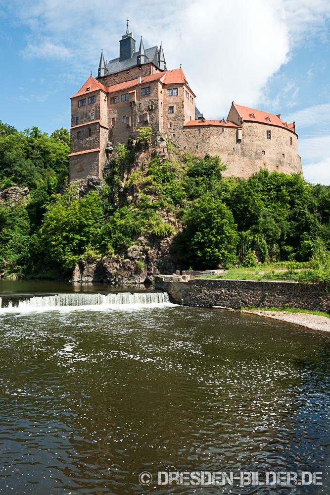 Zwickauer Mulde mit Burg Kriebstein