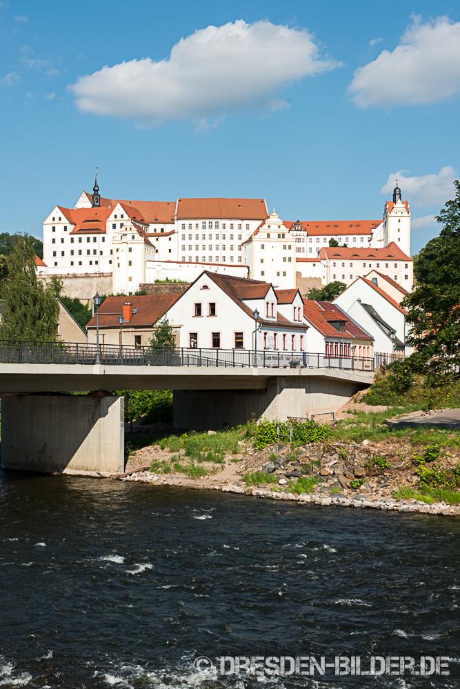 Schloss Colditz mit Zwickauer Mulde