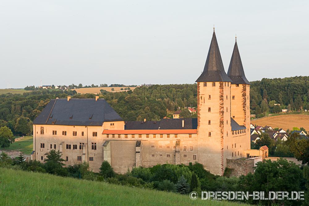 Schloss Rochlitz am Abend