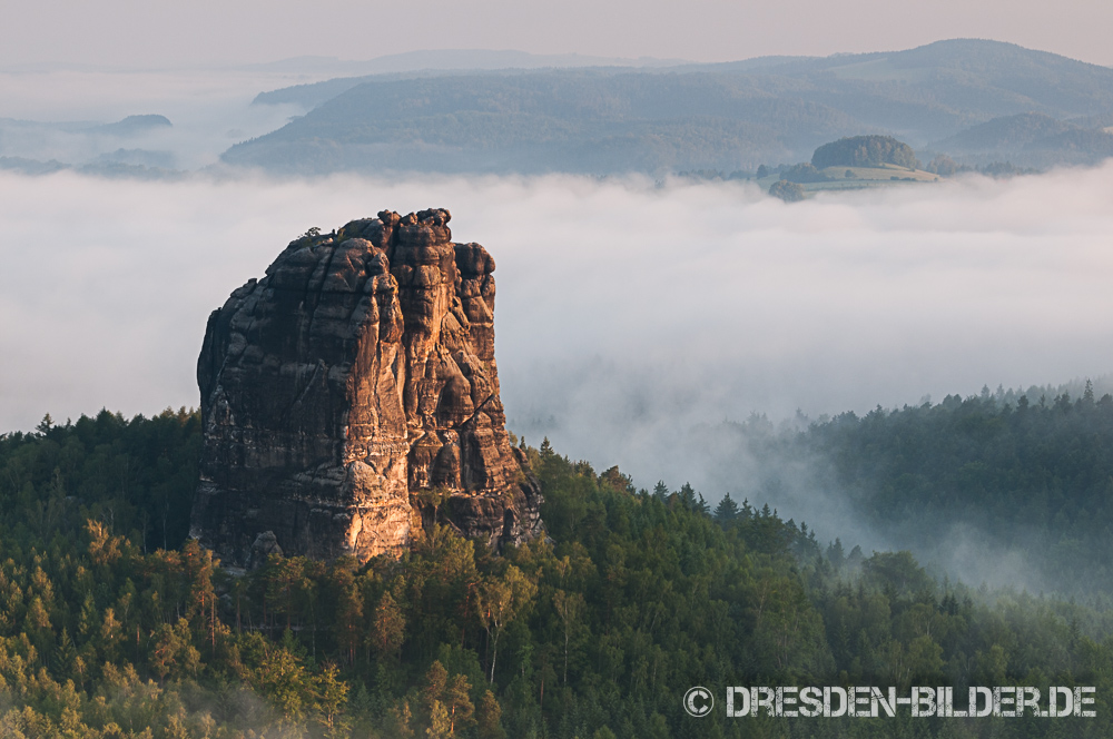 Falkenstein im Morgennebel