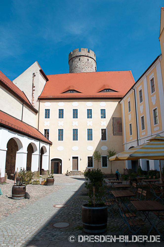Innenhof von Burg Gnandstein